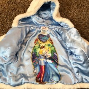 Disney Cinderella white fur jacket